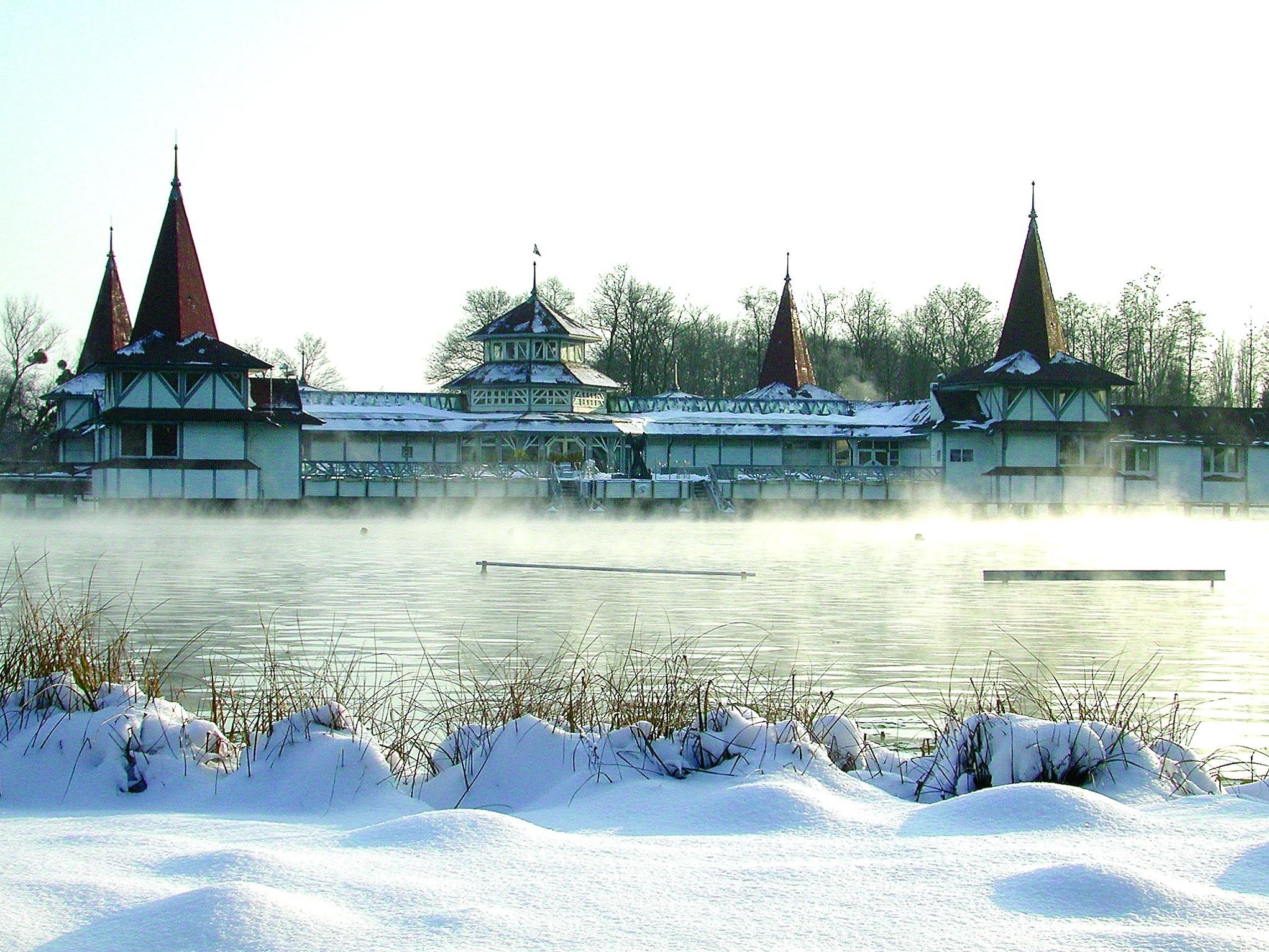 Венгрия на новый год озеро хевиз